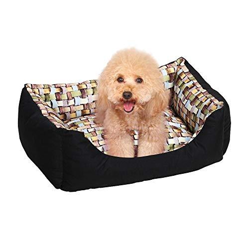 Yaheetech Hundebett mit Wendekissen Haustierbett für Katzen und kleine Hunde Hundekörbchen Hundesofa Katzenbett weich waschbar staubgeschüttzt farbig S 62 x 47 x 18cm