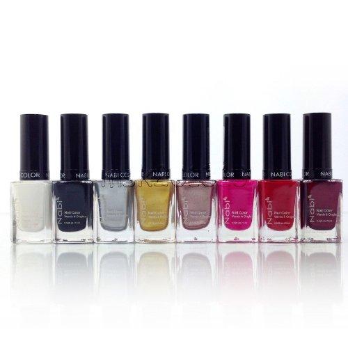 Nabi Cosmetics Basic Nail Polish Collection Set of 8 Basic Colors