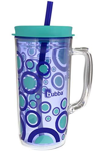 Bubba Envy Thermobecher mit Strohhalm, 122 ml, idealer Reisebecher mit Griff, der stoß-, schmutz-, schweiß- und geruchsresistent ist, isolierte Wasserflasche für unterwegs, Weinberg mit Blasen-Grafik