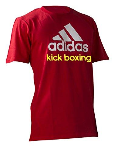 adidas Herren T-Shirt Community Kickboxing, Red/White, S