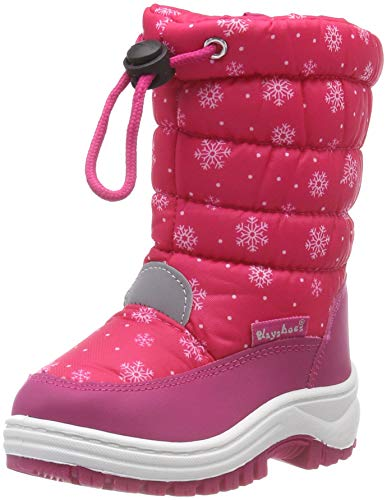 Playshoes Snow Boots Snowflakes Unisex-Kinder Schneestiefel, Pink (Pink 18), 24/25 EU