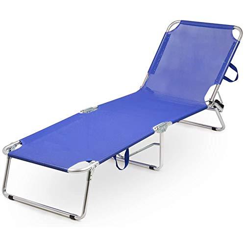Brandina in alluminio con struttura rinforzata a 3 gambe lettino relax per casa mare e giardino
