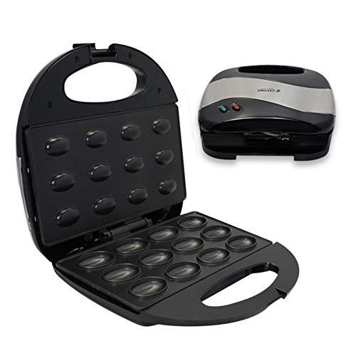 iBaste Nussmaker – Gofrera eléctrica para hacer nueces, pasteles, pan, gofres, sándwich, sartén para tostar, desayuno, cocina, horno