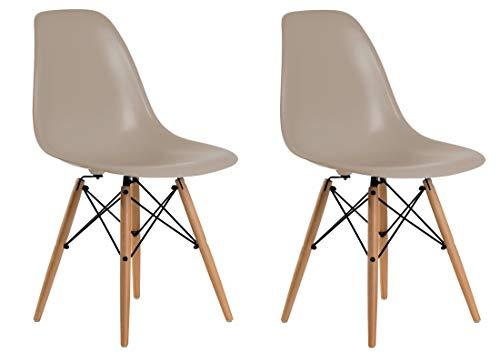 Aryana Home Réplique Eames – Set de chaises, 51 x 46,5 x 81,5 cm 51x46.5x81.5 cm Beige
