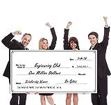 Giant Fake Award Presentation Check - 30' x 60' - Large Novelty Endowment Check for Endowment, Donations, Fundraiser - Big Blank Oversized Raffle Sweepstakes Reward Winners Check (Line Borders)