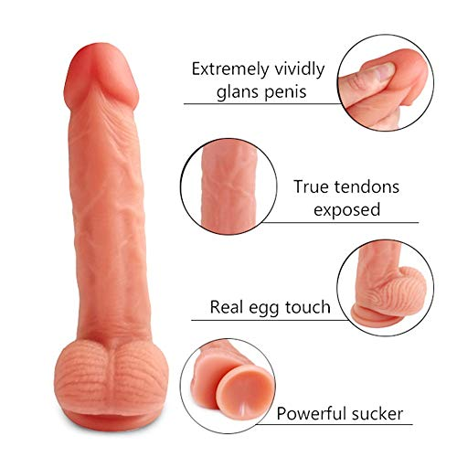Gouzi 8,26 Zoll Anfänger Mini Soft Toy Dìldǒ Stimulation anal plǔg Penis STAB Frauen des Màssǎgěr, Paare T-Shirt, Sonnenbrille
