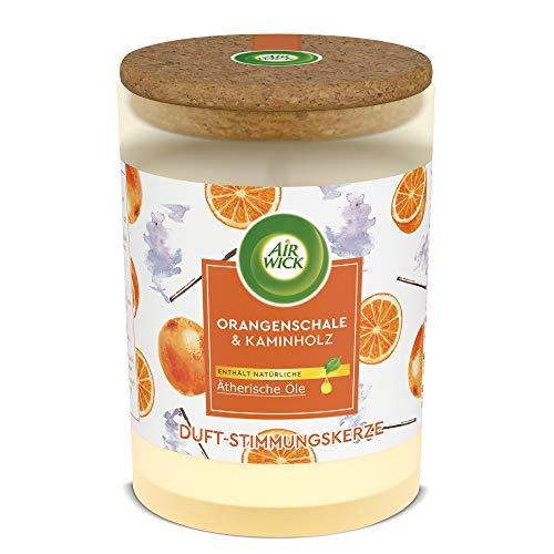 Air Wick - Candele profumate all'arancia e legna da ardere, confezione da 1 pezzo