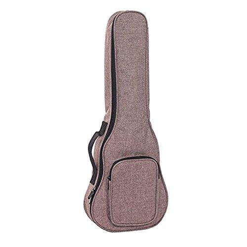 H HILABEE 21-26 Zoll Ukulele Tasche Soft Case Gig Bag Wasserdicht Oxford Tuch Ukelele Hawaii 4 String Gitarre Rucksack - Grau - 23inch-24inch