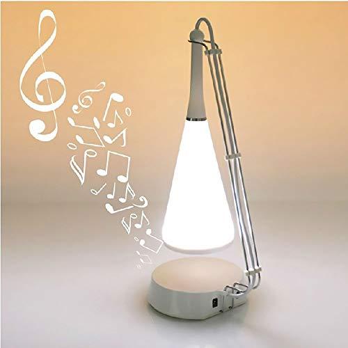 Lámpara Escritorio Lámpara de plástico Pantalla de plástico multifunción Interruptor táctil Bluetooth Estéreo LED de Escritorio Lámpara de Escritorio/luz de Noche/Versión Opcional de Carga inalámb