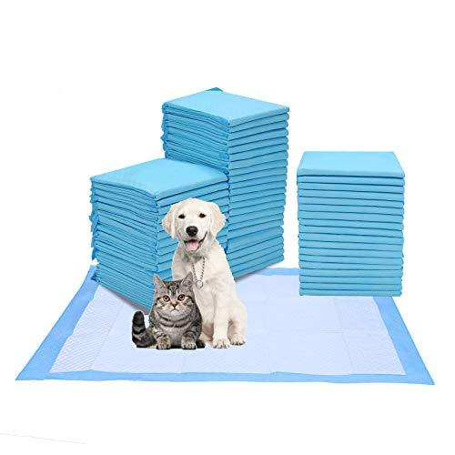 Hengda Hunde Toilettenmatte Welpentoilette Hygieneunterlagen für Haustiere, saugstarke Hunde-Pads Toilettenpolster Einwegurinauflage Größe 60 x 60 cm Und Super Saugfähig(40PCS)