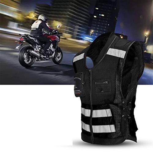Seguridad Reflectante Corriente Ciclismo Chaleco Super Luz y Cómoda Motocicleta Reflectiva Reflectiva Chaqueta Sin Mangas Gray