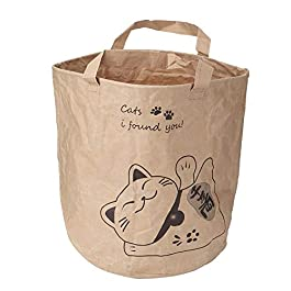 Pet Travel Bag Portable Double Layer Folding Kraft Paper Safe Toy Pet Cat Travel Bag with Handle