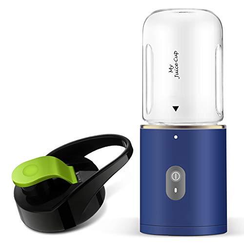 BSJZ Mini Voyage Juice Cup Portable Mixeur des Fruits Rechargeable avec USB Chargeur Câble sans BPA Super Facile à Nettoyer Cadeau pour Petite Amie