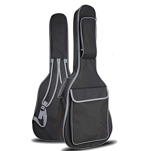 36 Inch 41 Inch Folk Guitar Bag 10MM Sponge Shoulder Waterproof Guitar Case Musical Instrument Bag Guitar Bag Backpack (Color : Black, Size : 36 inches)