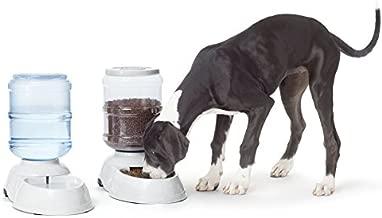 AmazonBasics Gravity Pet Food Feeder and Water Dispenser Bundle, Large (2.5-Gallon Capacity)