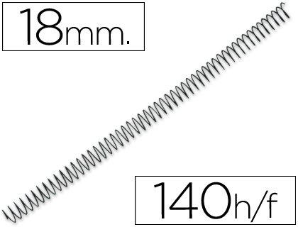 Q-Connect - Espiral Metálico 64 5:1 18Mm 1.2Mm Caja De 100 Unidades