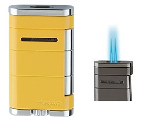 Lifestyle-Ambiente XIKAR Allume XL Double Jet Feuerzeug gelb inkl Tastingbogen