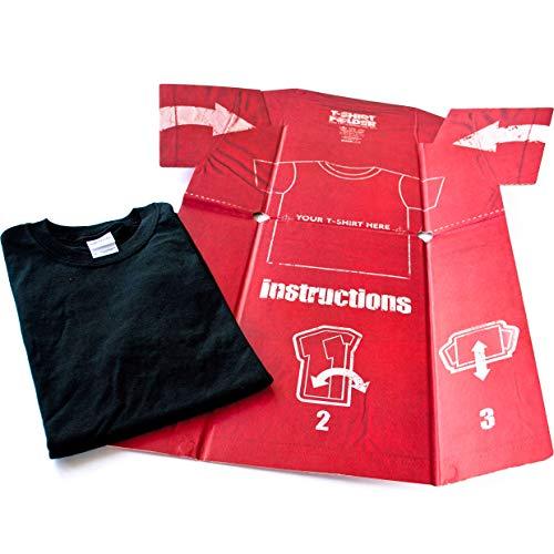 T-Shirt Folder Doblador de Camisetas, Papel, Rojo, 0.20x69.00x81.40 cm