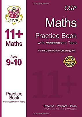 11+ Maths Practice Book with Assessment Tests (Ages 9-10) for the CEM Test (CGP 11+ CEM) by Coordination Group Publications Ltd (CGP)