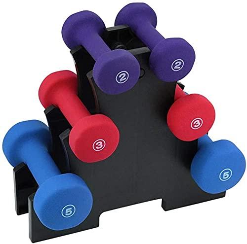 Juego de 6 mancuernas cortas con varios pesos para entrenamiento en casa, mancuernas de gimnasio, entrenamiento