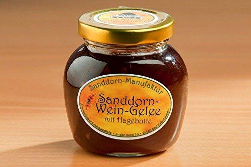 Sanddorn-Wein-Gelee mit Hagebutte 225g Glas