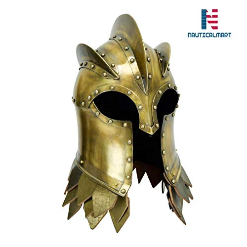 NauticalMart Medieval Kingsguard Helm with Stand - 18 Gauge
