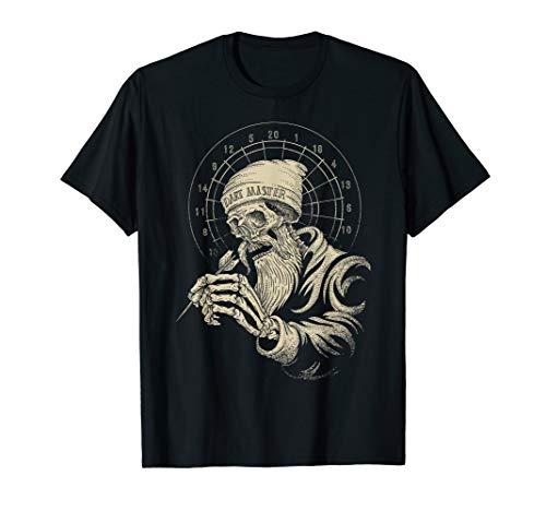 Das Geschenk für Dart-Spieler und Teams - Dart-Scheibe Skull T-Shirt