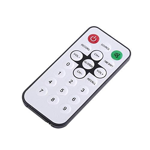 FOLOSAFENAR Receptor de TV Digital de Alta sensibilidad USB 2.0 Receptor de TV Multifuncional Universal Duradero Soporte inalámbrico Pantalla de múltiples imágenes con Control Remoto