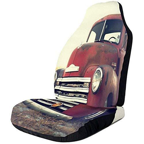 Rode Vrachtwagen In Veld Auto Stoelhoezen Universele Auto Voorstoelen Beschermer Accessoires
