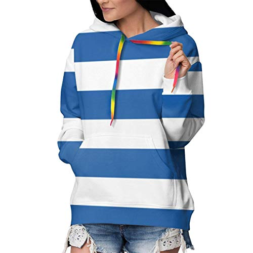 TTYIY Athletic Sweatshirts Pullover Plus Samt Dicke Trainingsanzüge für Mädchen Frauen Gr. XL, Flagge Griechenlands Glücksbringer
