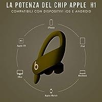 Auricolari PowerbeatsPro wireless – Chip per cuffie AppleH1, Bluetooth di Classe 1, 9 ore di ascolto, auricolari resistenti al sudore - Muschio #3