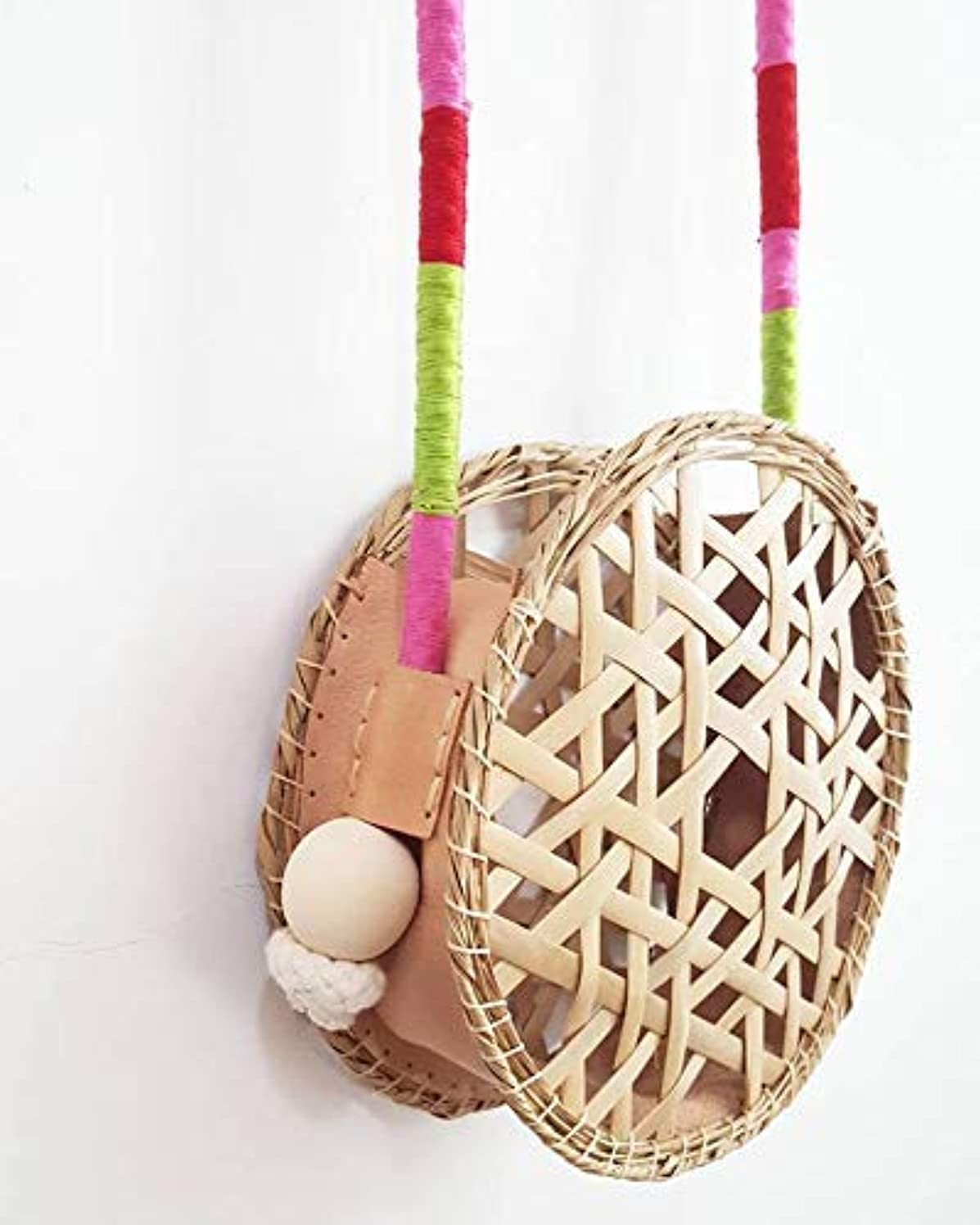 Leather and bamboo bag
