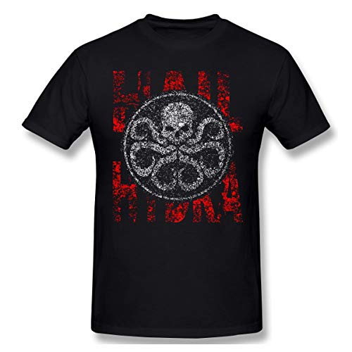 BBBQQ 2020 Agents of S.H.I.E.L.D Men 100% Cotton Graphic Plus Size Hail Hydra. Oversized Tops T-Shirt