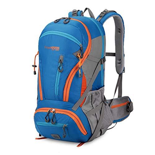 HENDTOR 45L Große Kapazität Klettern Wandern Wasserdichte Camping Bergsteigen Rucksack Outdoor Sport Taschen Blue