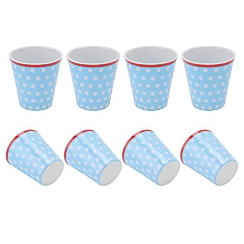 Gmkjh Taza de melamina, Taza de Leche, 4 Piezas innovadora Taza de melamina Taza de Bebida de Porcelana de imitación Taza de Bebida para Restaurante Escolar