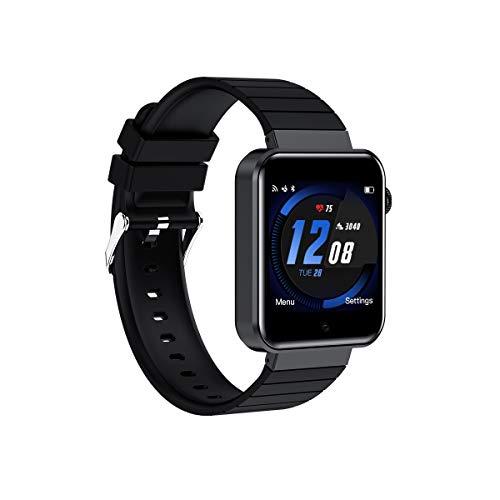 Smart Watch Android, Relojes Inteligentes Masculinos y Femeninos Relojes Deportivos Bluetooth con Cámara Podómetro y Ranura para Tarjeta SIM para Android iOS Samsung Xiaomi Huawei (Negro)