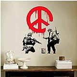 GKAWHH Soldado Color Warn Fire Department Street Art Vinyl Sticker Sticker Decal Graffiti Boy Personalize Decoration 70 * 85 Cm