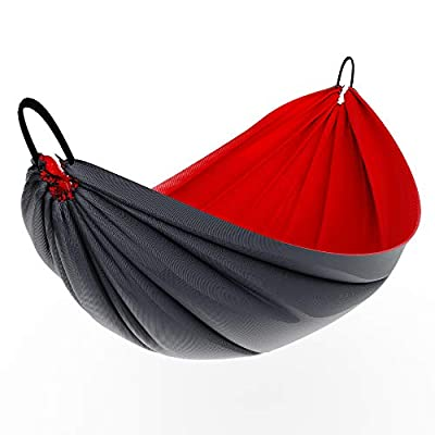Avalanche Hammock or Hammock Underquilt for Camping, Outdoor Sleeping - Includes Tree Straps, Carry Bag (Underquilt - Red)