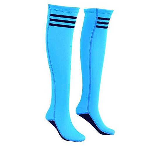 DAUERHAFT Diving Socks, Girl Women Socks Thigh High Socks Breathable Tear-Resistant for Diving Swimming(Sky Blue, M)