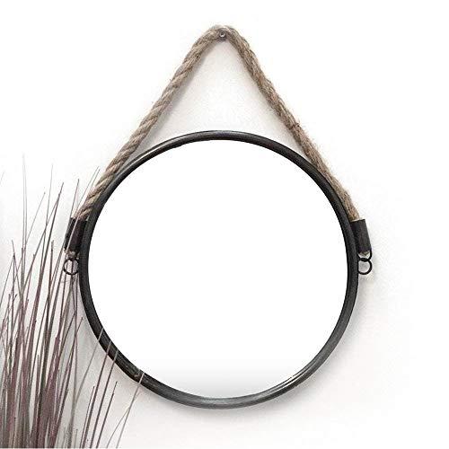 Ardisle Redondo náutico Ojo de Buey Cuerda de baño Espejo de Pared cosmética Grande 34CM