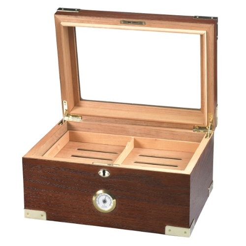 Deluxe Glass-Top Humidor (20-50 Cigars)