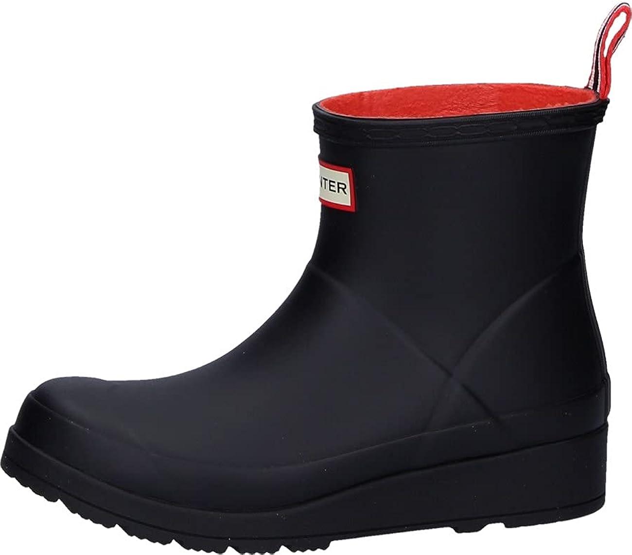 HUNTER Boot Women's Original Insulated Play Short Rain Boot Grey