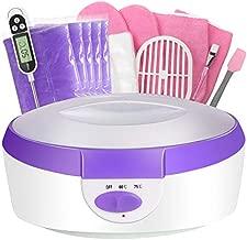 Paraffin Wax Machine for Hand and Feet - Ejiubas Paraffin Bath Quick Heating 2500ml Paraffin Wax Warmer with Paraffin Wax Refills Thermal Mitts Gloves Moisturizing Kit Hand Wax Spa Purple