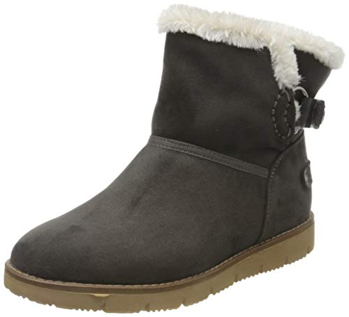 TOM TAILOR Damen 7993102 Stiefeletten, Grau (Coal 00013), 39 EU