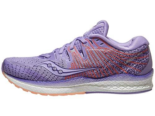 Saucony Women's S10510-37 Liberty ISO 2 Running Shoe, Purple/Peach - 11 M US