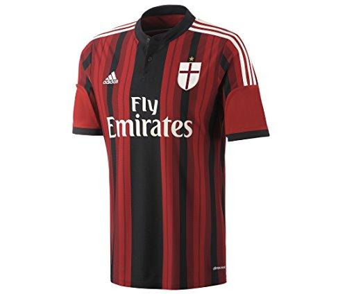 Adidas Trikot AC Mailand Heimtrikot Jungen Schwarz/Rot S04/ Rennen Gr. 152, rot