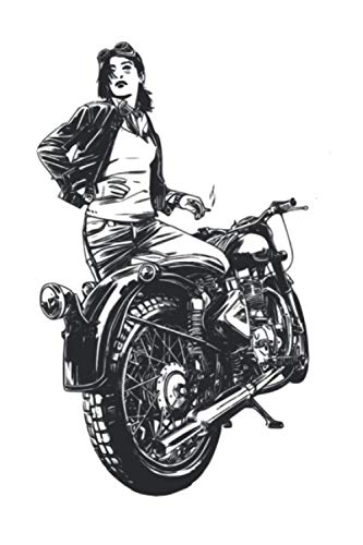 Femal Motorcyclist: 120 sited Notebook (6x9 inches dotted paper)