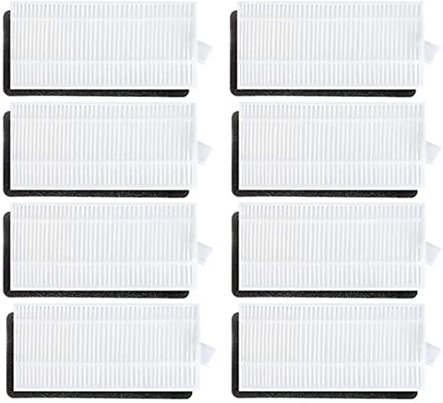 NICERE Partes de aspirador reemplazos 8 piezas HEPA filtros pieza de repuesto para Ecovacs Deebot N79 N79S robótica Partes de aspirador Accesorios