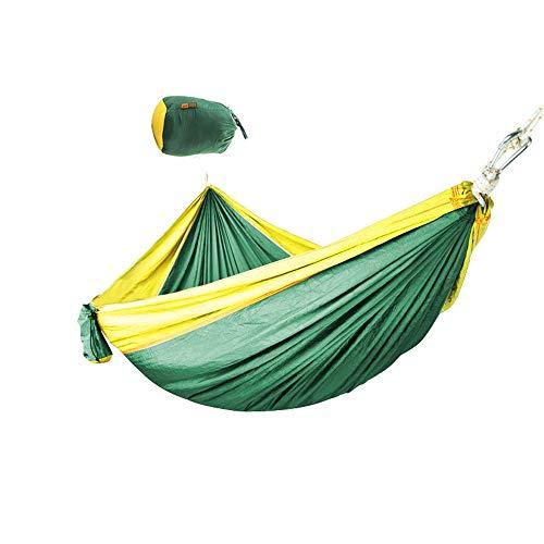 BU-SOH Hamaca Hamaca de Camping al Aire Libre Hamaca de Tela de paracaídas al Aire Libre Columpio de Camping 300x180 Hamaca Doble ensanchada para el Aire Libre Montañismo Viajes con Mochila