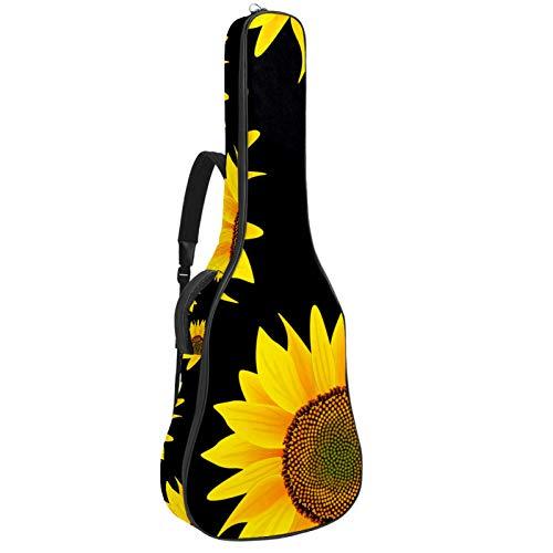 Bennigiry Bolsa de guitarra con diseño de girasol amarillo
